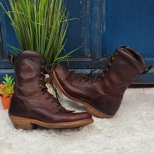 Dan Post fringe western boots